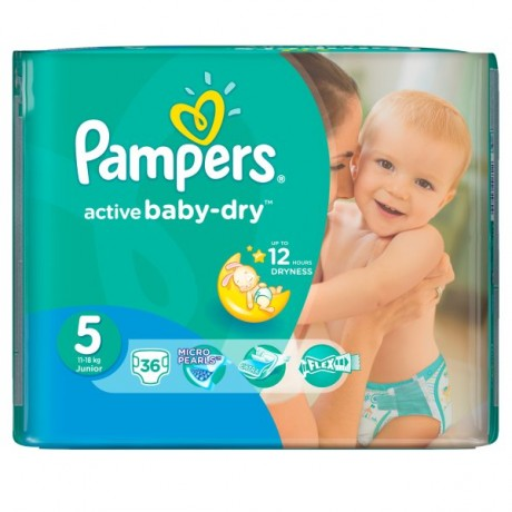 PAMPERS ACTIVE BABY DRY 5 JUNIOR 36SZT