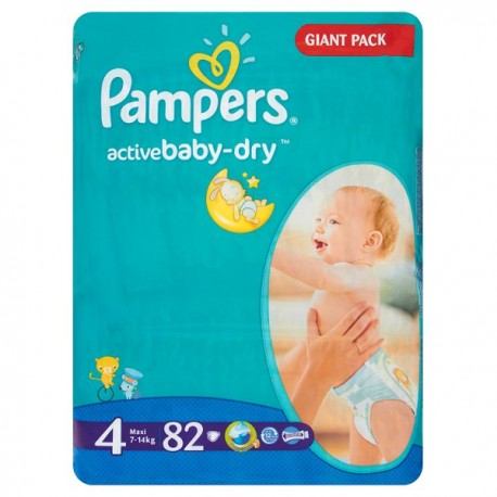 PAMPERS ACTIVE BABY-DRY MAXI 4 7-14KG 82SZT
