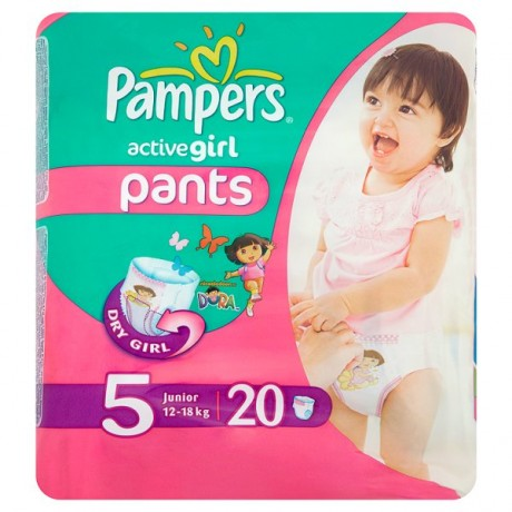 PAMPERS ACTIVE GIRL PANTS JUNIOR 12-18KG 20